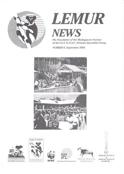 Lemur News: The Newsletter of the Madagascar Section of the IUCN/SSC Primate Specialist Group: Number 8: September 2003