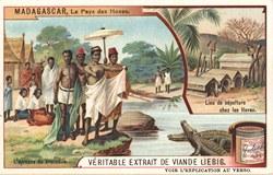 L'épreuve du crocodile / Lieu de sépulture chez les Hovas