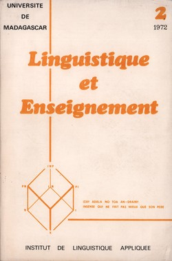 Linguistique et Enseignement: Linguistics and Teaching: 2