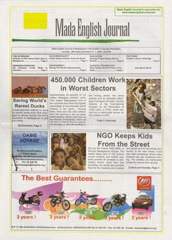 Mada English Journal: Issue 66; December 2009