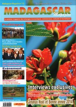 Madagascar Magazine: No. 72: Décembre 2013-Janvier-Février 2014