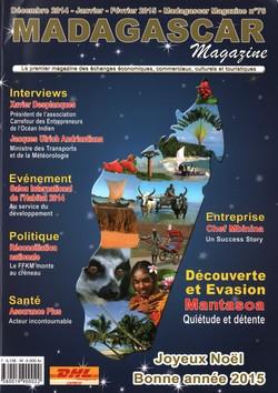 Madagascar Magazine: No. 76: Décembre 2014-Janvier-Février 2015