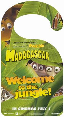 Madagascar Movie Door Sign