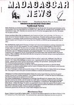 Madagascar News: Spring 1997