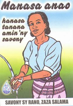 Manasa anao: Hanasa tanana amin'ny savony; savony sy rano, zaza salama
