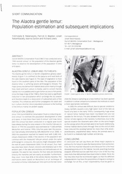 The Alaotra Gentle Lemur: Population Estimation and Subsequent Implications: [Short Communication]
