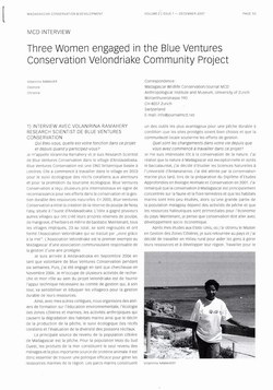 Three Women engaged in the Blue Ventures Conservation Velondriake Community Project: [MCD Interview]