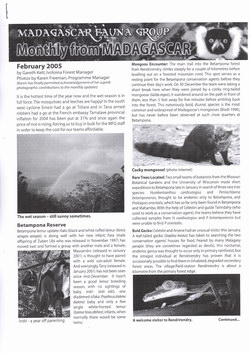 Monthly from Madagascar: Madagascar Fauna Group: February 2005: Volume 2, Issue 2