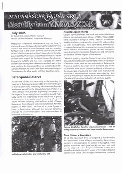 Monthly from Madagascar: Madagascar Fauna Group: July 2005: Volume 2, Issue 6
