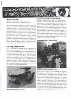 Monthly from Madagascar: Madagascar Fauna Group: August 2005: Volume 2, Issue 7