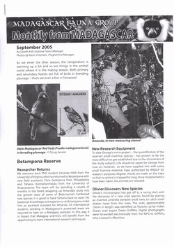 Monthly from Madagascar: Madagascar Fauna Group: September 2005: Volume 2, Issue 8