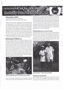 Monthly from Madagascar: Madagascar Fauna Group: November 2005: Volume 2, Issue 10