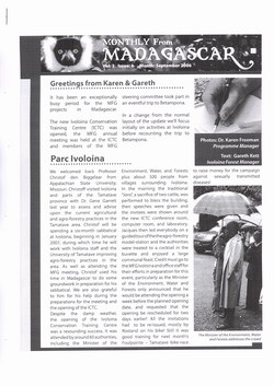 Monthly from Madagascar: Madagascar Fauna Group: September 2006: Volume 3, Issue 6