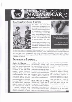 Monthly from Madagascar: Madagascar Fauna Group: November 2006: Volume 3, Issue 7