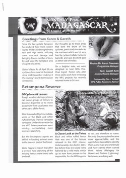 Monthly from Madagascar: Madagascar Fauna Group: May 2007: Volume 4, Issue 2