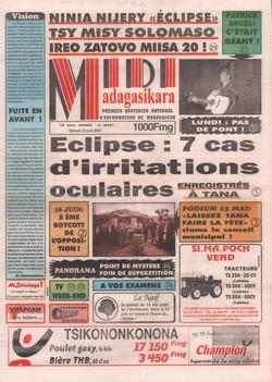 Midi Madagasikara: No. 5431 (samedi 23 juin 2001)