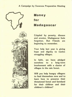 Money for Madagascar Leaflet: A Campaign by Swansea Preparative Meeting