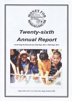 Twenty-sixth Annual Report: Money for Madagascar