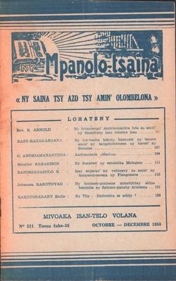 Ny Mpanolo-tsaina: No. 221: Octobre-Décembre 1958