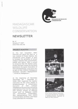 Madagascar Wildlife Conservation Newsletter: No. 8, January 2nd 2007