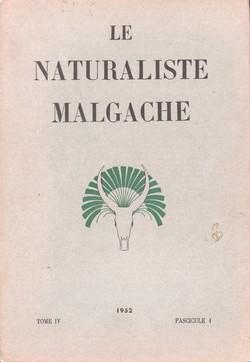 Le Naturaliste Malgache: Tome IV, Fascicule 1