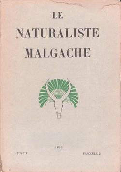 Le Naturaliste Malgache: Tome V, Fascicule 2