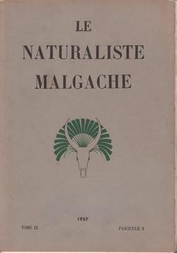 Le Naturaliste Malgache: Tome IX, Fascicule 2