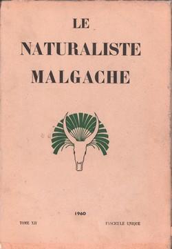 Le Naturaliste Malgache: Tome XII, Fascicule unique