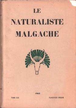 Le Naturaliste Malgache: Tome XIII, Fascicule unique