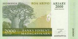 Roa Arivo Ariary (10000 Francs): Banky Foiben'i Madagasikara