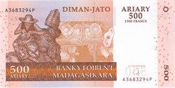 Diman-Jato Ariary (2500 Francs): Banky Foiben'i Madagasikara