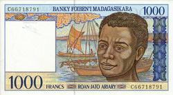 1000 Francs (Roan-Jato Ariary): Banky Foiben'i Madagasikara