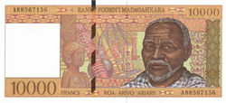 10000 Francs (Roa Arivo Ariary): Banky Foiben'i Madagasikara