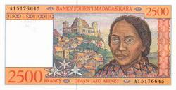 2500 Francs (Diman-Jato Ariary): Banky Foiben'i Madagasikara