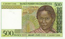 500 Francs (Ariary Zato): Banky Foiben'i Madagasikara