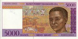 5000 Francs (Arivo Ariary): Banky Foiben'i Madagasikara