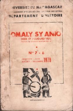 Omaly sy Anio (Hier et Aujourd'hui): Revue d'études historiques: Nos. 7-8: Janvier-Juin, Juillet-Décembre 1978