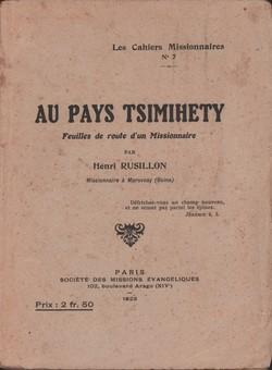 Au Pays Tsimihety: Feuilles de route d'un Missionnaire