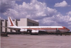 Air Madagascar Boeing 707-300, 5R-MFK: Paris Orly Airport, Paris, France, June 1975