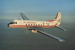 Air Madagascar Hawker Siddeley HS-748, 5R-MJA: In flight