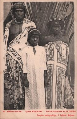 12. Prince Sakalave et sa famille: Comptoir Photographique G. Bodemer, Majunga