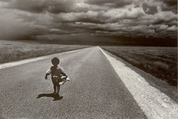 Malagasy Child on Road: Horombe 1995