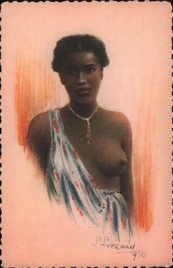 8. Madagascar - Jeune fille vezo: Exposition Coloniale Internationale de Paris 1931