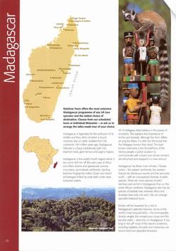 Madagascar: from the Rainbow Tours 2004 Brochure