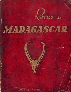 Revue de Madagascar: No 21: Quatrième Trimestre 1954