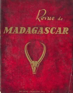 Revue de Madagascar: No 23: Deuxi?me Trimestre 1955