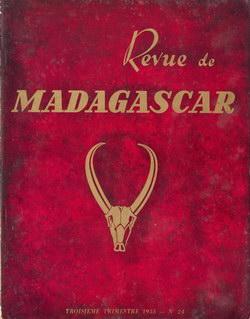 Revue de Madagascar: No 24: Troisième Trimestre 1955