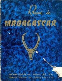 Revue de Madagascar: Nouvelle Série: Nos 39-40: Troisième et Quatrième Trimestre 1967