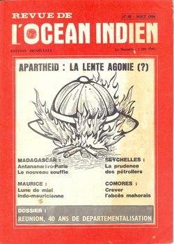 Revue de l'Océan Indien: No 80: Août 1986