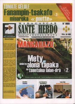 Madagascar Santé Hebdo: No 93; Du samedi 1 mars au vendredi 04 avril 2014